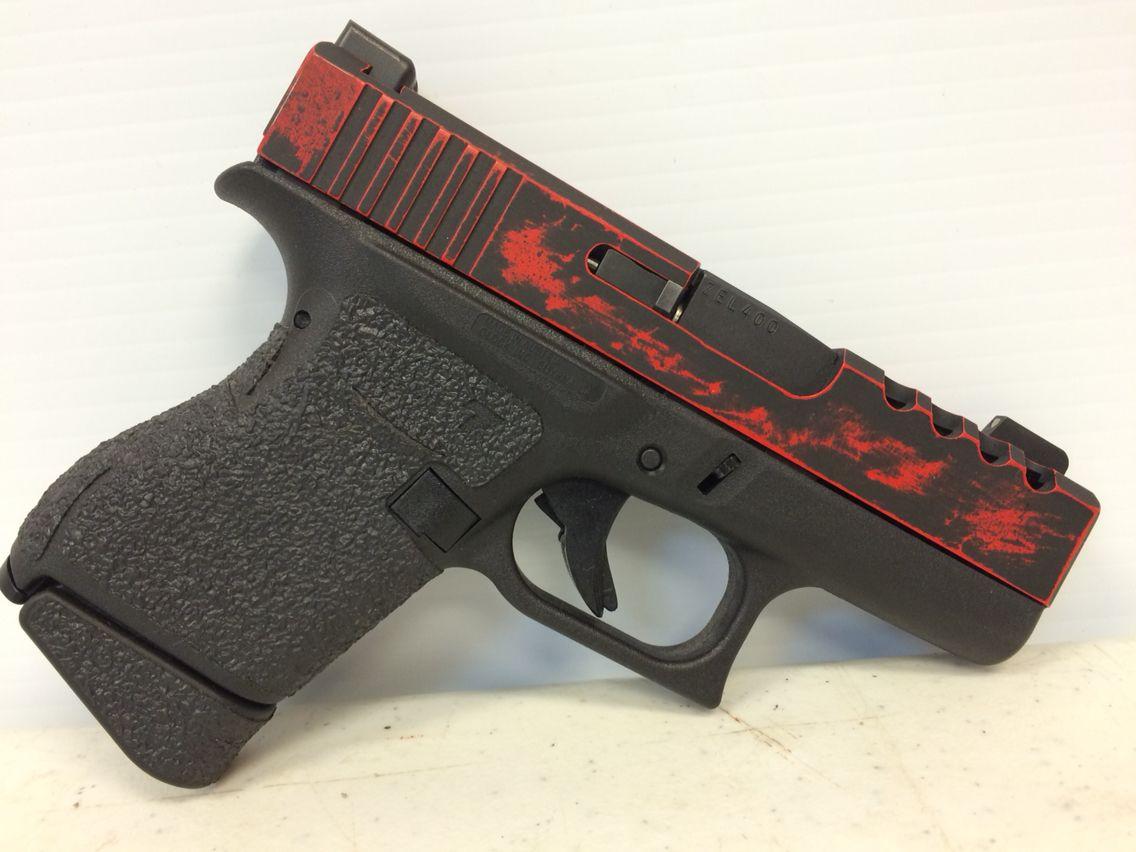 Brand new Glock 43, completely shaved slide, all markings ...