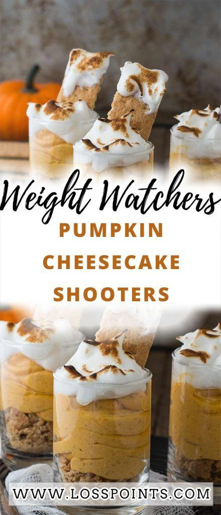 Pumpkin Cheesecake Shooters When you need a 'little' treat, these delicious pumpkin cheesecake shooters are the perfect sweet fix.  These Pumpkin Pie Cheesecake Dessert Shooters made healthy! Jump to Recipe, Print Recipe. How do you feel about the whole mini dessert thing?  Servings: 16 Ingredients: 3 (1.5 oz #dessertshooters Pumpkin Cheesecake Shooters When you need a 'little' treat, these delicious pumpkin cheesecake shooters are the perfect sweet fix.  These Pumpkin Pie Cheese #dessertshooters