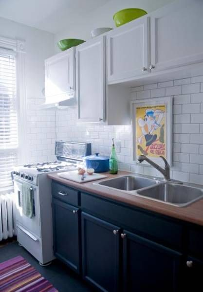 love this trick for old kitchens. Wish I could do it in mine
