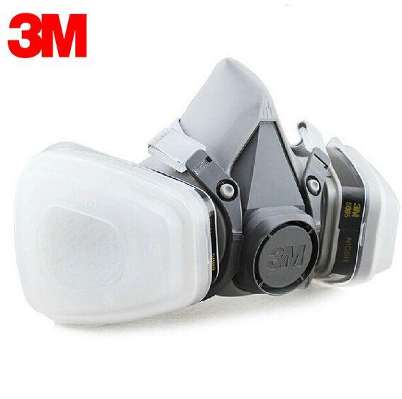 3M 6100+6005 SIZE S Reusable Half Face Mask Respirator 3M Formaldehyde/Organic Vapor Cartridge 7 Items for 1 Set LT035 #Affiliate