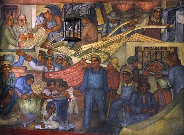Diego rivera for Mural mexicano