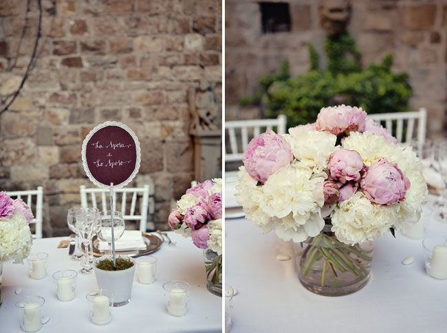 Idea For Bride And Groom Table