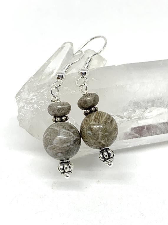 Petoskey Stone Beads Jewelry Supplies beautifully patterned beach stone beads