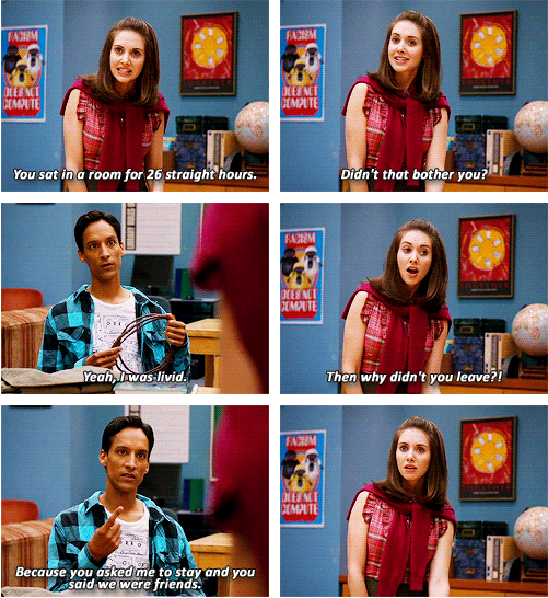 abed nadir and annie edison community 1x04 tv shows