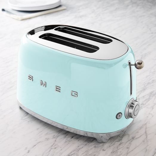 Available Colors: Black ,Chrome ,Cream ,Pastel Blue ,Pastel Green ,Pink  ,Red Based In Italy, Smeg Is Known For Its Retro And Durable Kitchen  Appliances.