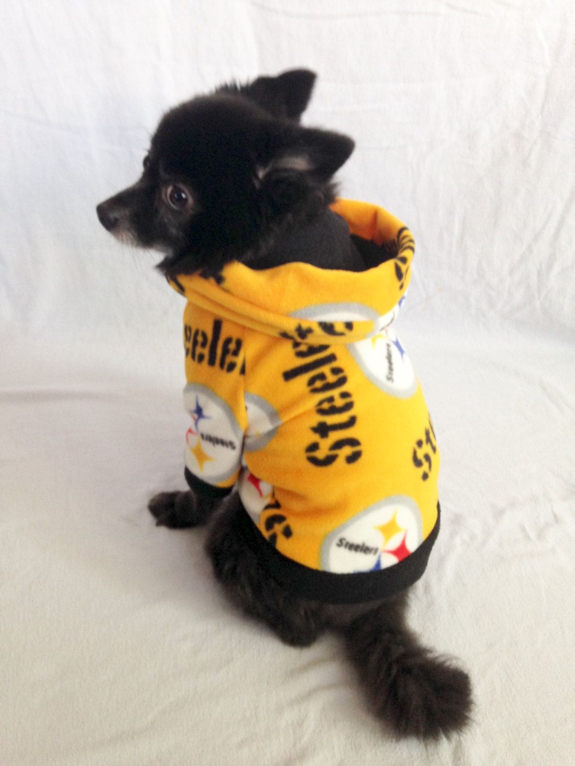 the latest 346c3 a8118 Pittsburgh Steelers Dog Hoodie, Pet Sweater for Small Breeds ...