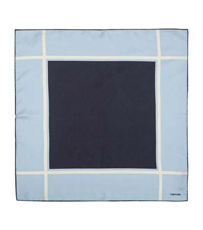 TOM FORD Micro Dot Silk Blend Pocket Square. #tomford #