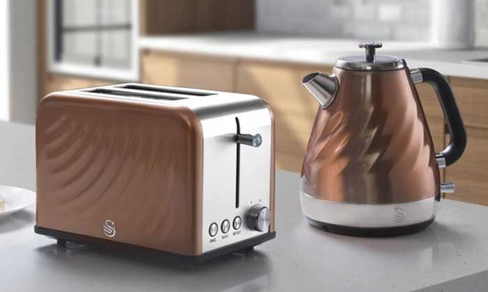 Swan Kettle and Toaster Set |