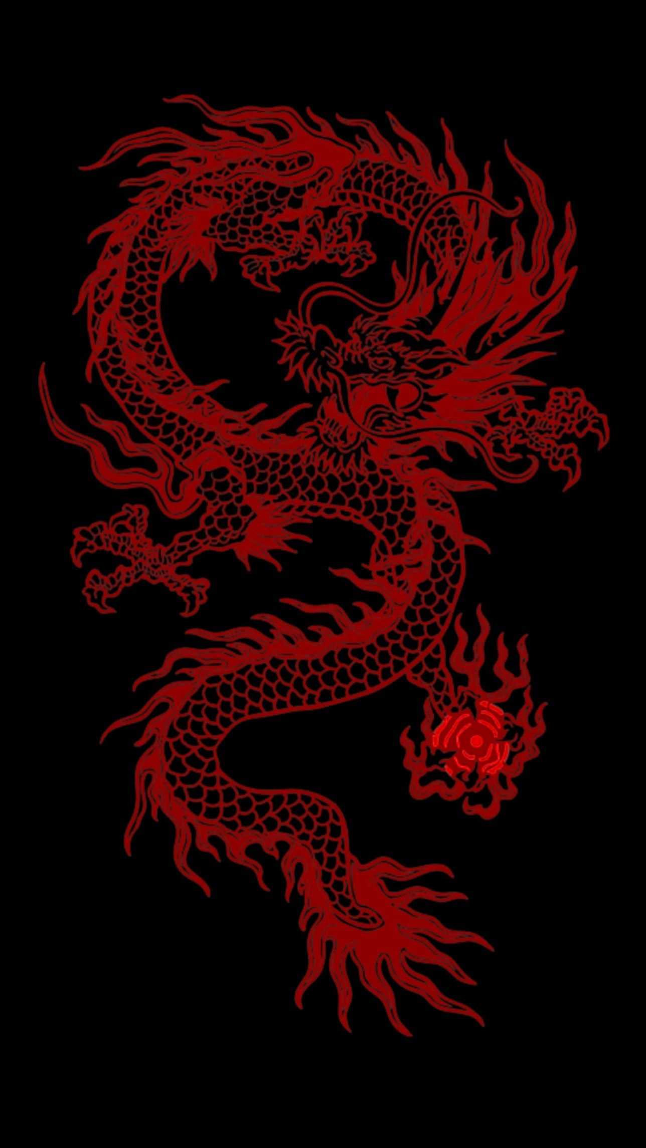 Red Dragon Snake Wallpaper Dragon Wallpaper Iphone Dark Red Wallpaper