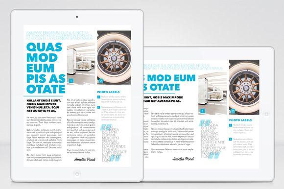 iPad Magazine – InDesign Template by Jan Stýblo on @creativemarket ...