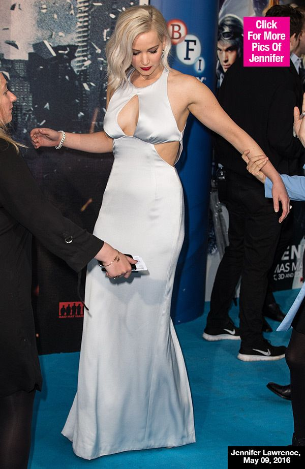 ba8b6ca703f Awesome Jennifer Lawrence Trips Over Her Own Feet On 'X-Men' Red ...