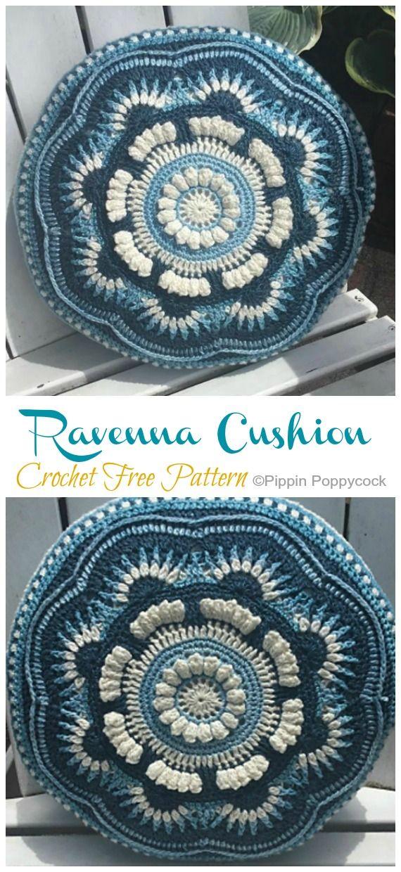 Mandala Cushion Crochet Free Patterns - Crochet & Knitting