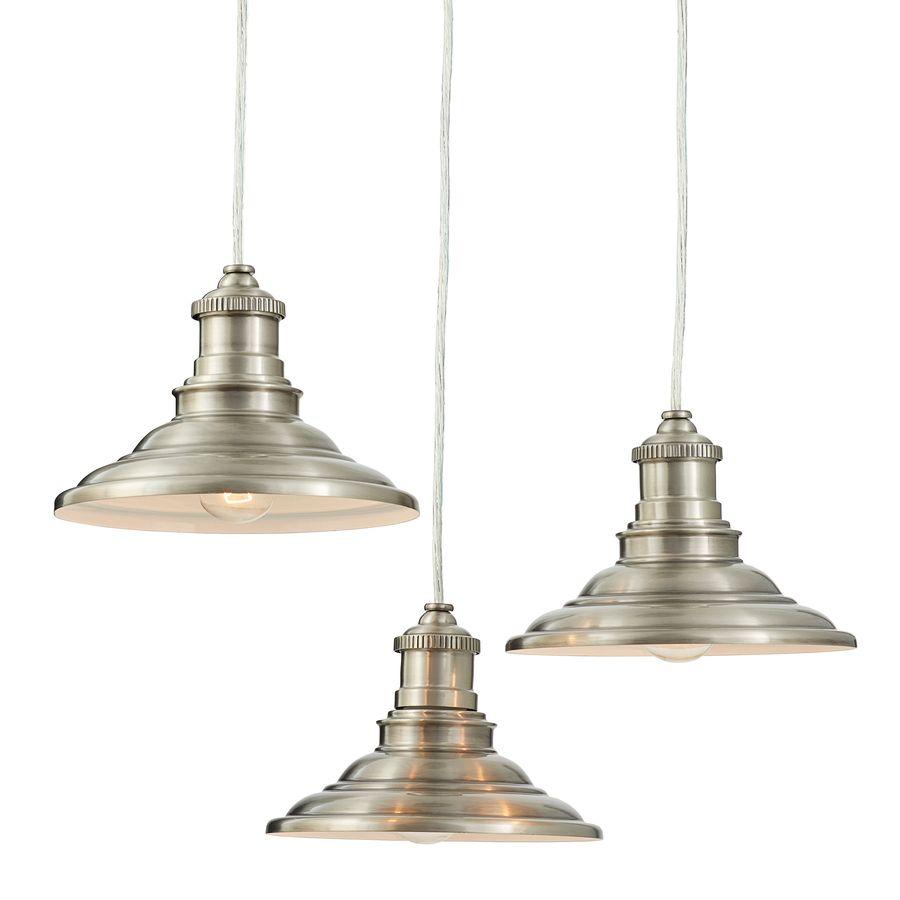Multi Pendant Lighting Kitchen Allen Roth Hainsbrook 183 In Antique Pewter Rustic Multi Light
