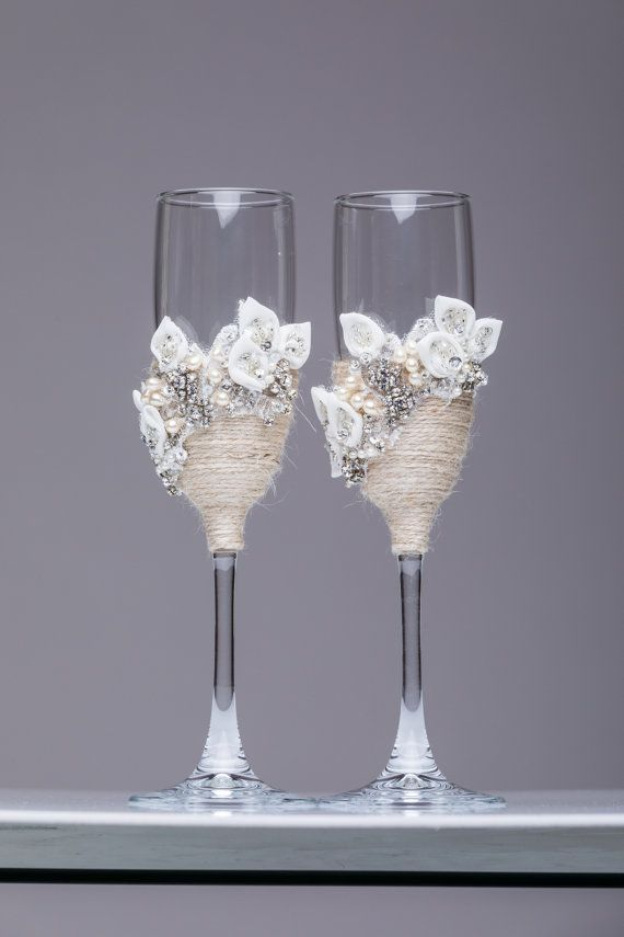 Personalized Wedding Gles And Cake Server Set Cutter Rustic Toasting Flutes Of 4