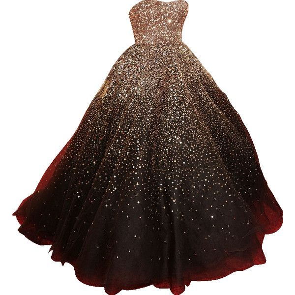 Clipped by MsSplashley - strapless chocolate brown embroidered Marchesa ballgown found on Polyvore
