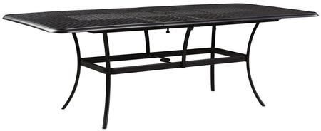 """Tanglevale Collection P557-635 90"""" Outdoor Dining Table with 2 Built-In Extension Leaves Lattice ..."""
