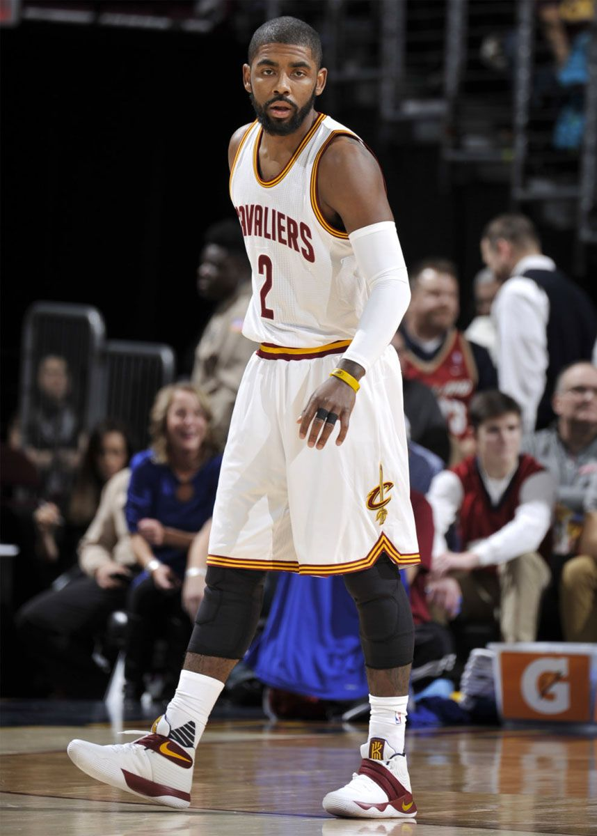 new product 6f570 ccd6a Kyrie Irving wearing a 'Cavs' Nike Kyrie 2 PE (3 ...