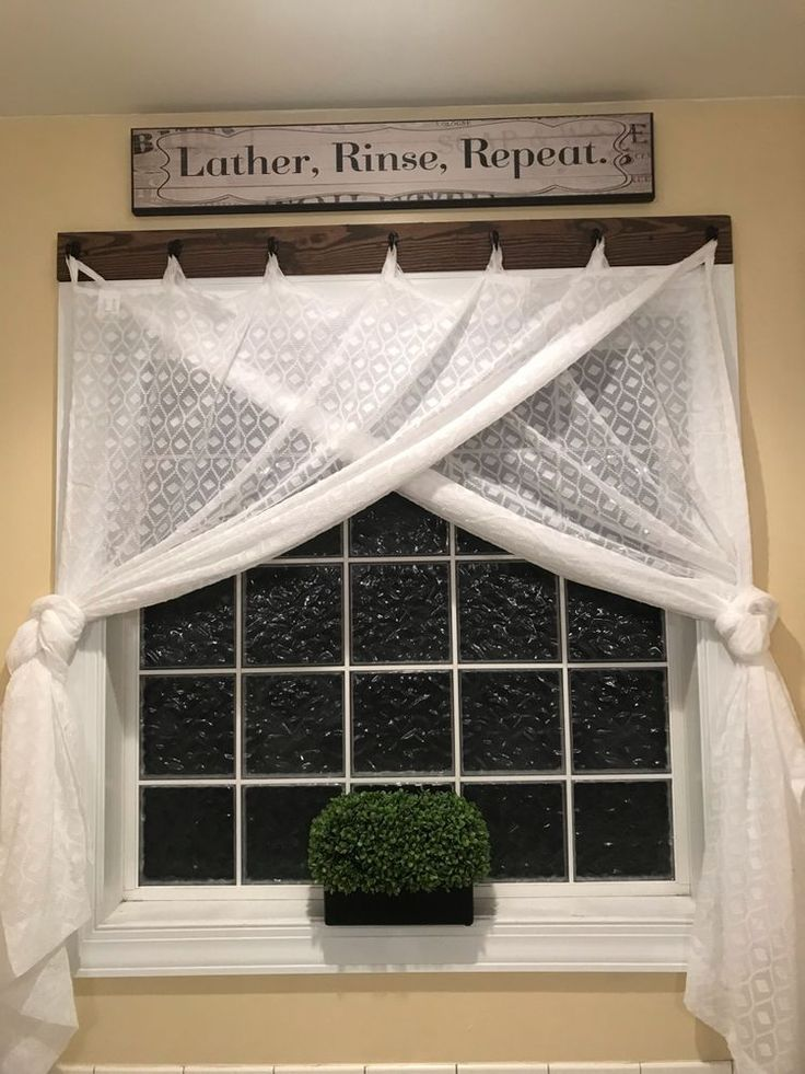 Farmhouse window treatment idea. – 2019 - Curtains Diy