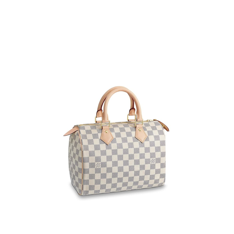 View 1 - Damier Azur Canvas HANDBAGS Top Handles Speedy 25   Louis Vuitton ® c37b4a2b19