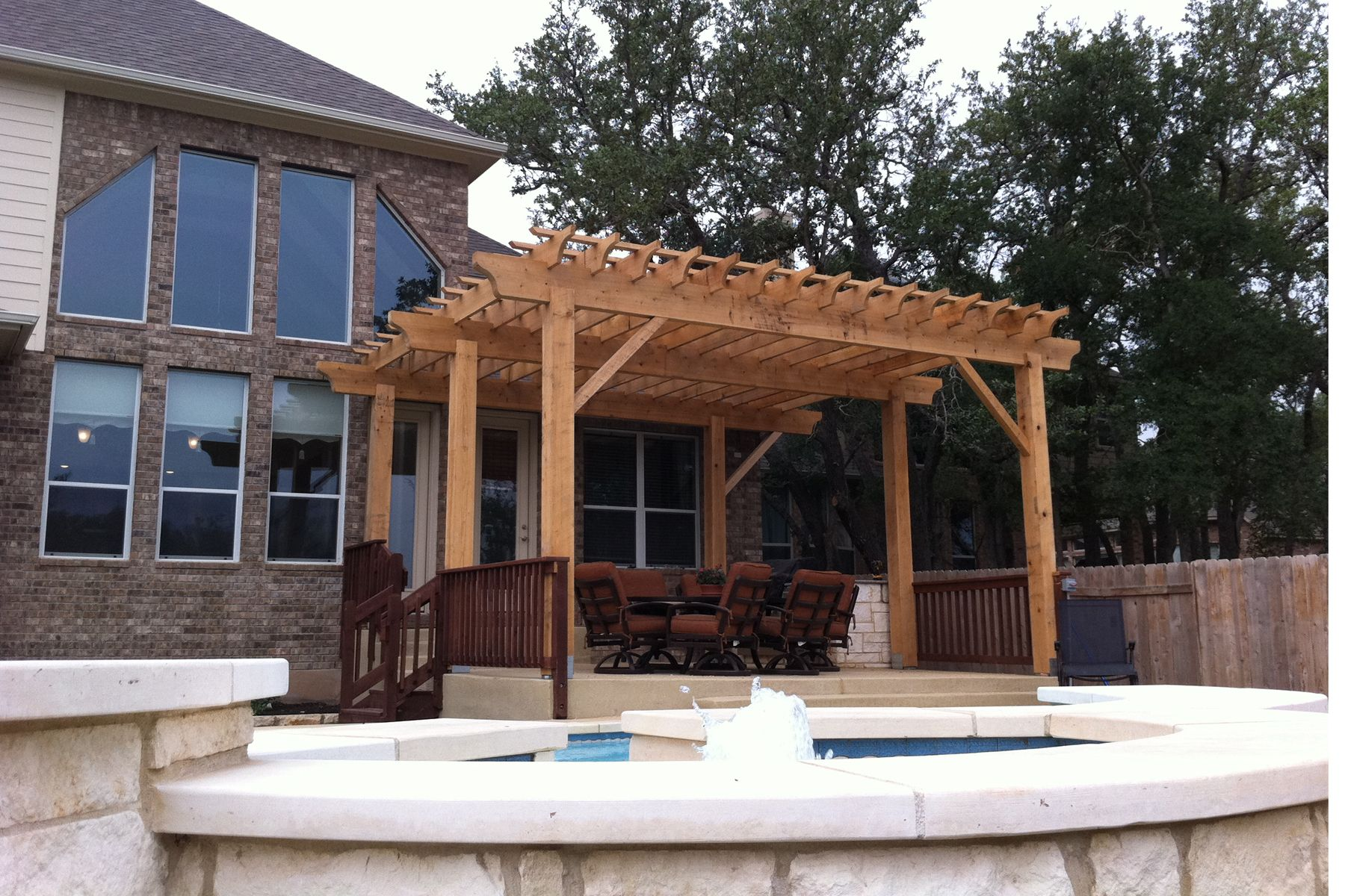 rustic wood patio covers