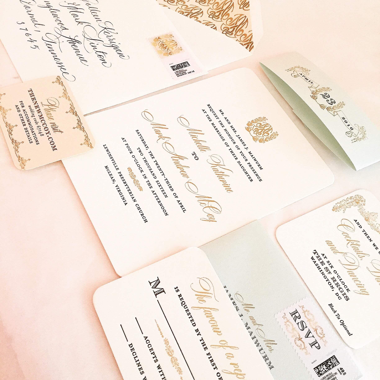 St. Regis Black Tie Wedding   Traditional wedding invitations ...