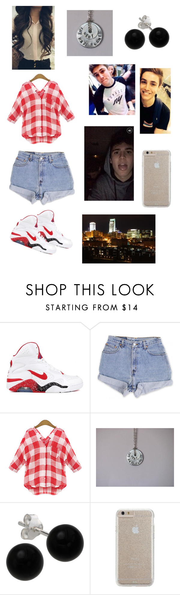 """Date in Omaha with Sammy Wilk"" by kailyr24 ❤ liked on Polyvore featuring NIKE, Levi's, Bridge Jewelry and Case-Mate"