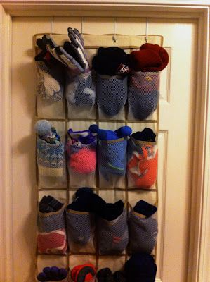 Organize your winter hats and gloves!