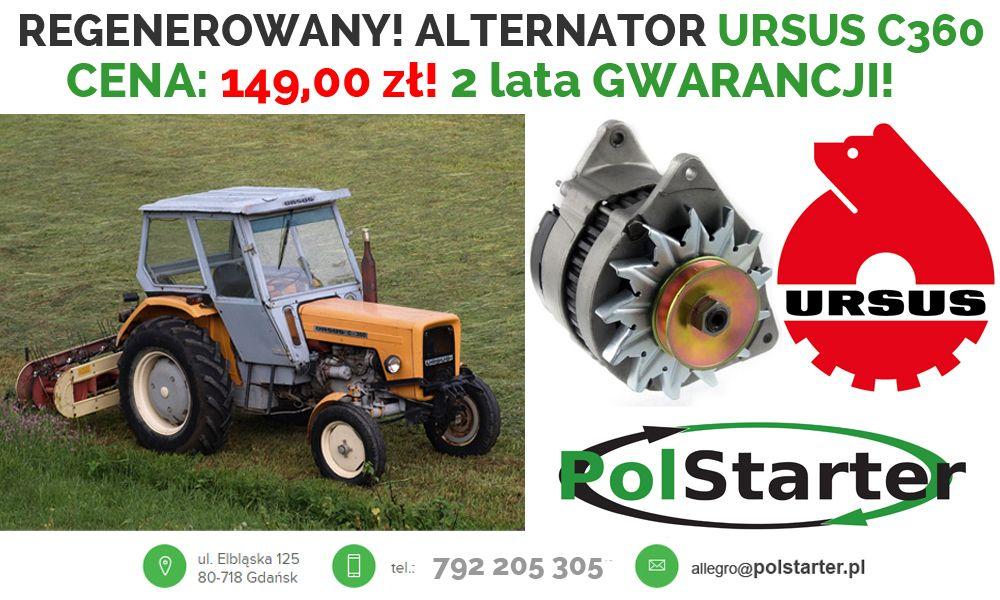 Alternator Ursus C360 Ciagnik Traktor 6367816581 Oficjalne Archiwum Allegro Alternator Ursus Tractors