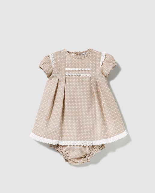 93515f6fb Vestido de bebé niña Dulces en marrón