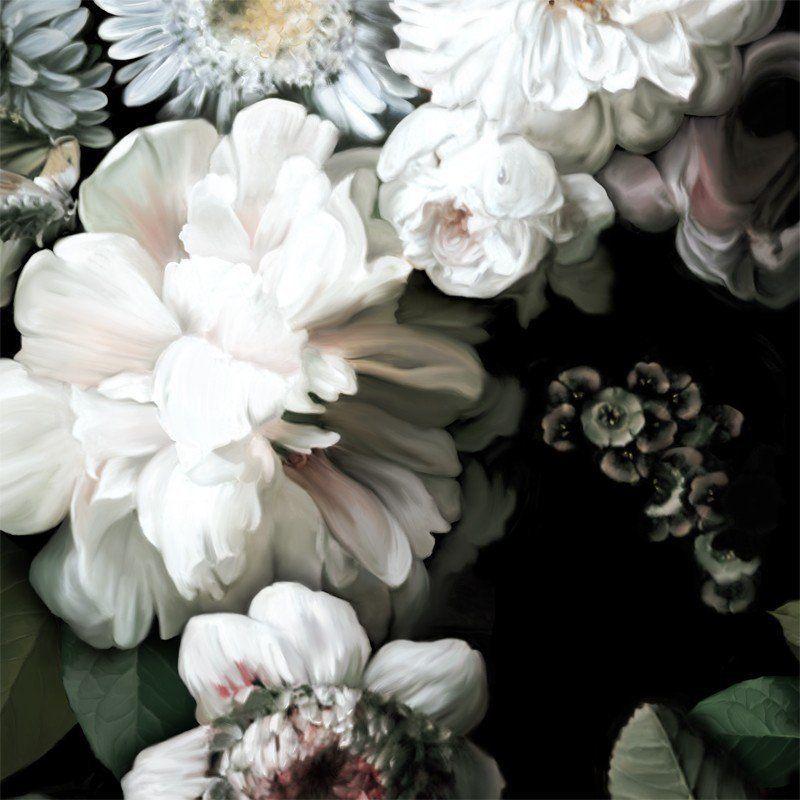 Dark Floral Wallpaper | Vintage flowers wallpaper, Large ...