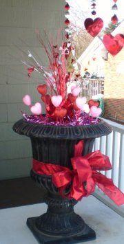 Garden Urn For Valentine Valentines Outdoor Decorations Diy