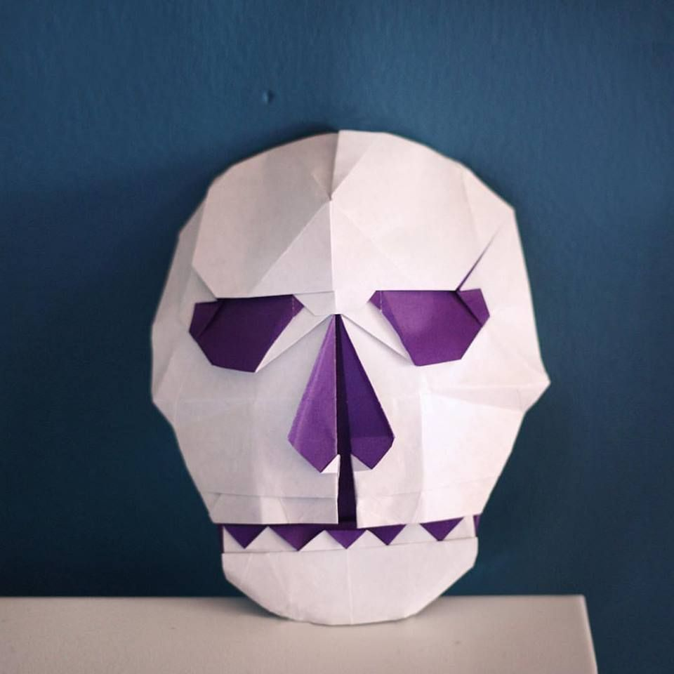 Only Attempt This Origami Skull If You Are Trying To Grow In