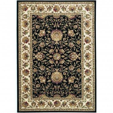 Couristan Traditional Izmir Floral Isfahan / Ebony Oriental Rug - 7088/0001