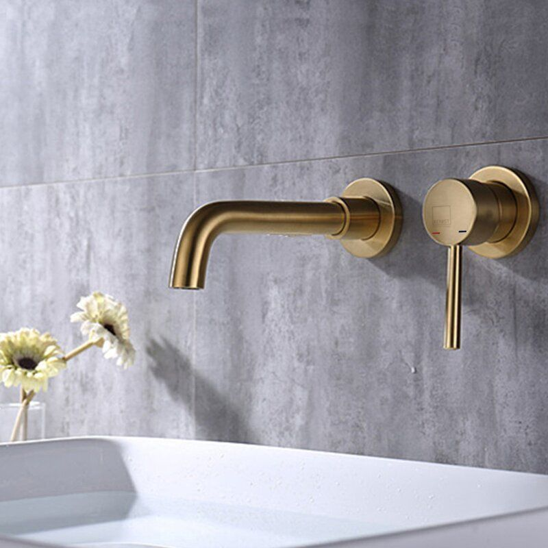 Renist Wall Mounted Bathroom Faucet In 2021 Wall Mount Faucet Bathroom Bathroom Faucets Wall Faucet