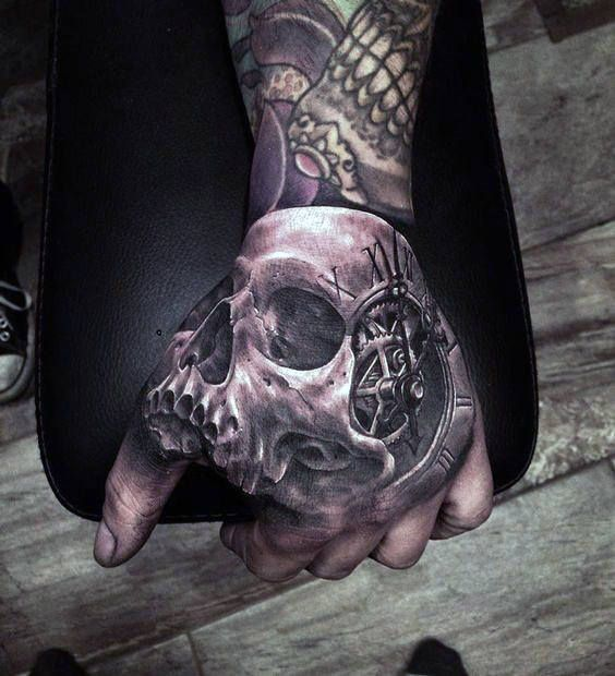 80 Skull Hand Tattoo Designs For Men Manly Ink Ideas Skull Hand Tattoo Hand Tattoos For Guys Hand Tattoos
