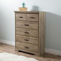commode a 5 tiroirs de la collection versa de meubles south shore
