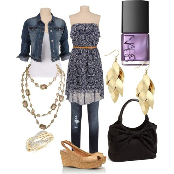 """""""Jean Jacket Outfit"""" by totoluv on Polyvore"""