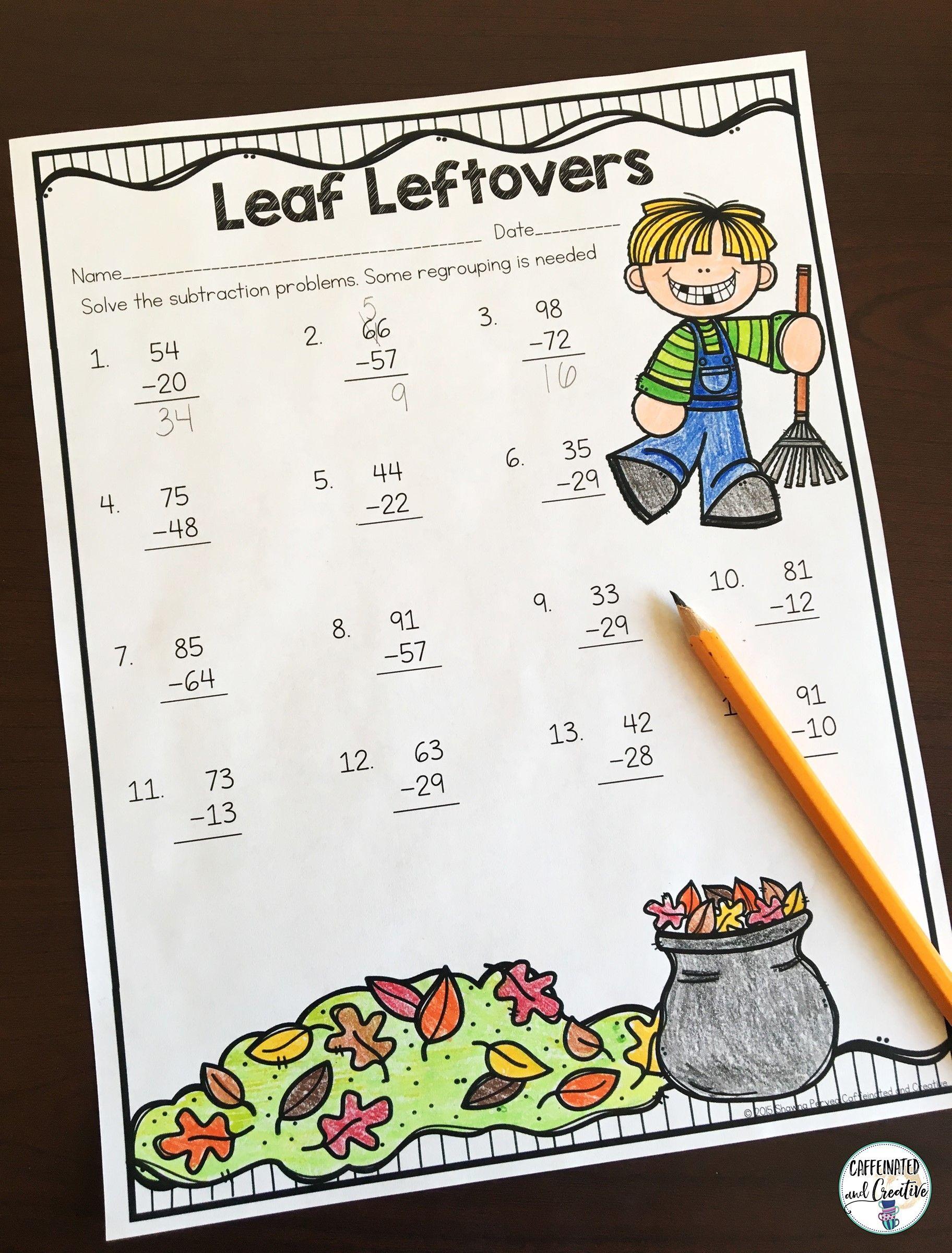 Fall Literacy And Math No Prep Second Grade