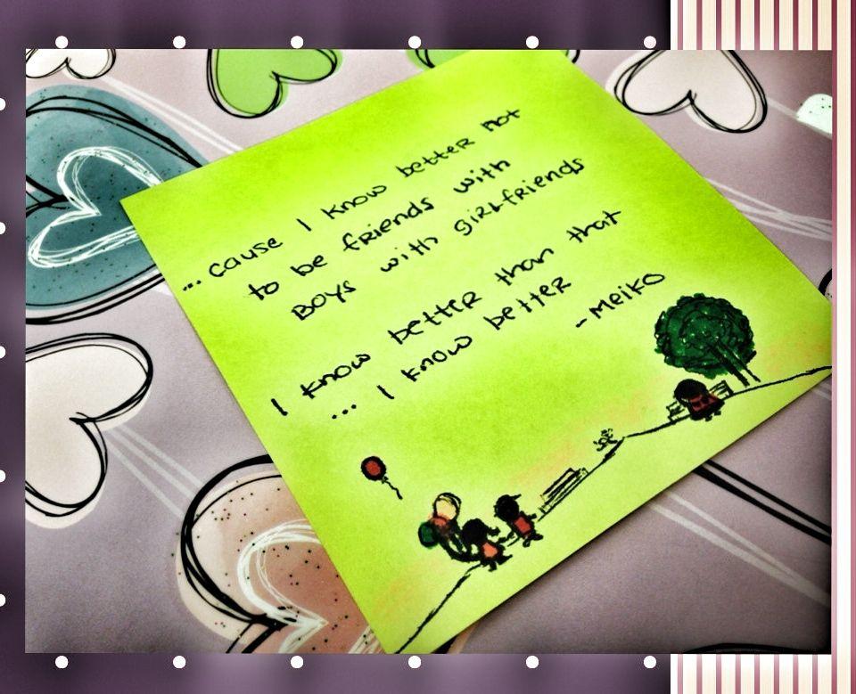 Lyric sincerely lyrics : I know better -Boys w/ Girlfriends -Meiko #lyrics #quotes #doodles ...