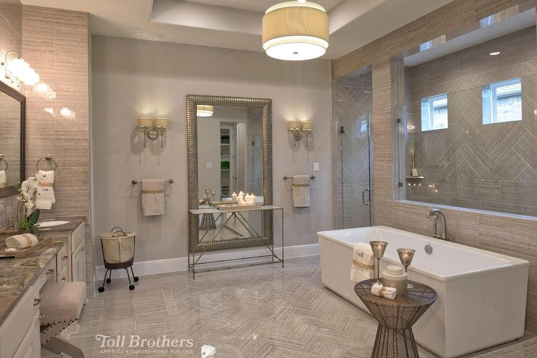 Today 39 s bestoftoll photo from a model home in texas is - Bathroom designs for home ...