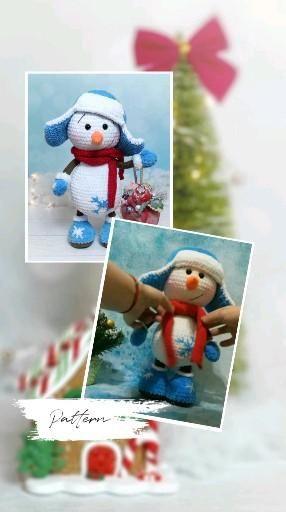 Crochet PATTERN Snowman. Christmas snowman pattern. Snowman baby Amigurumi toys. Amigurumi patterns / tutorial snowman