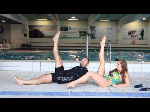 Wurzburger Synchronschwimmerin Amelie Ebert Zeigt Ubungen Im