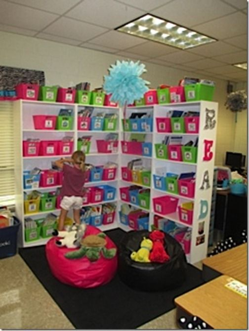 Awesome idea for classroom library set up