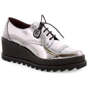 e69cc32cb6d8 Lead Leather Platform Oxfords by Sixtyseven