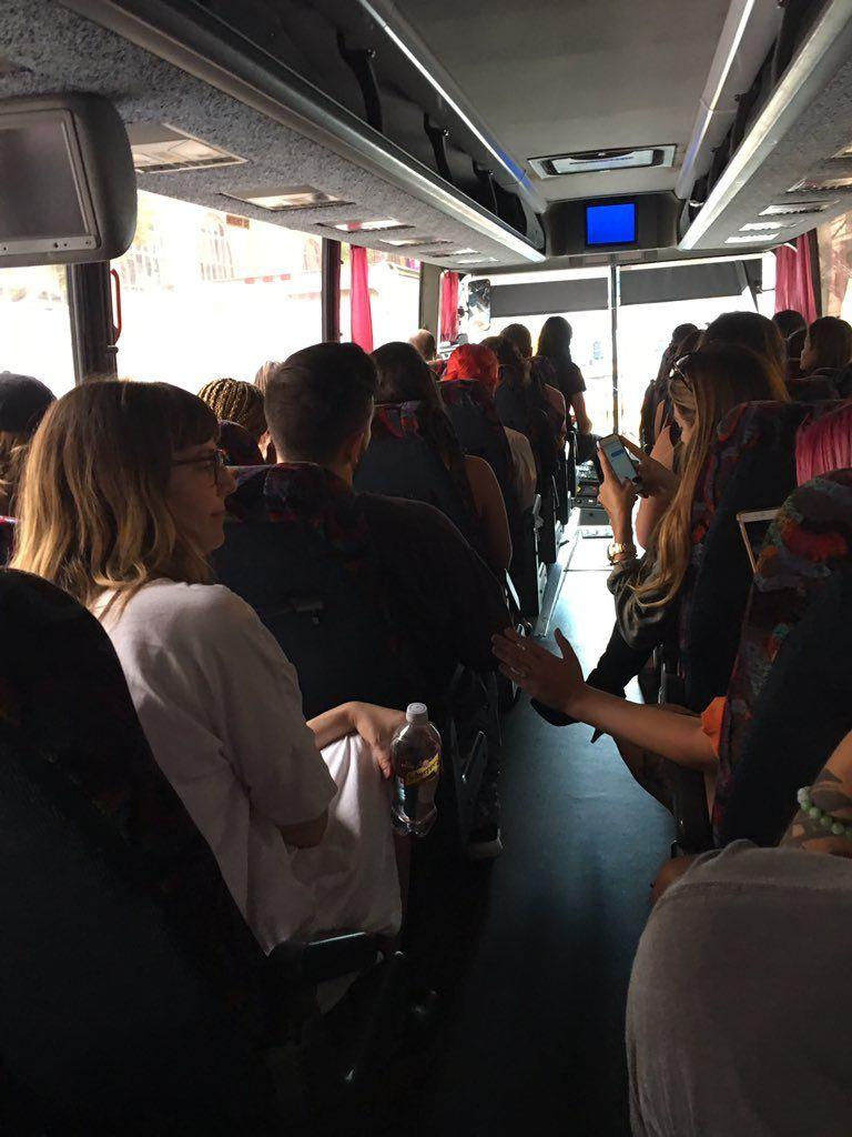Back to Skool on the Kanye Bus https://t.co/X4sah6AX4E   Stella Bugbee (stellabugbee) September 7 2016 https://t.co/9IX6NIEN4e