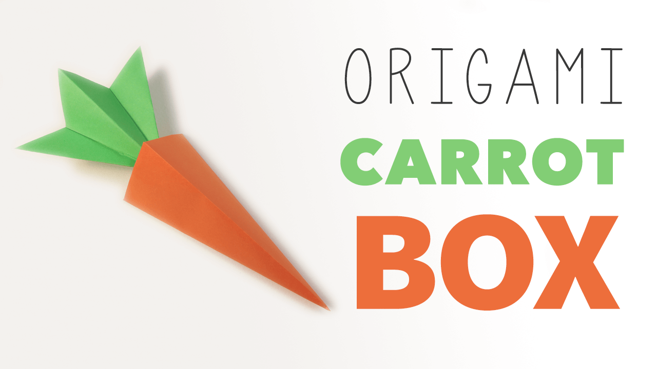Origami carrot box video tutorial pyramid model origami and easter origami carrot box video tutorial paper kawaii negle Images