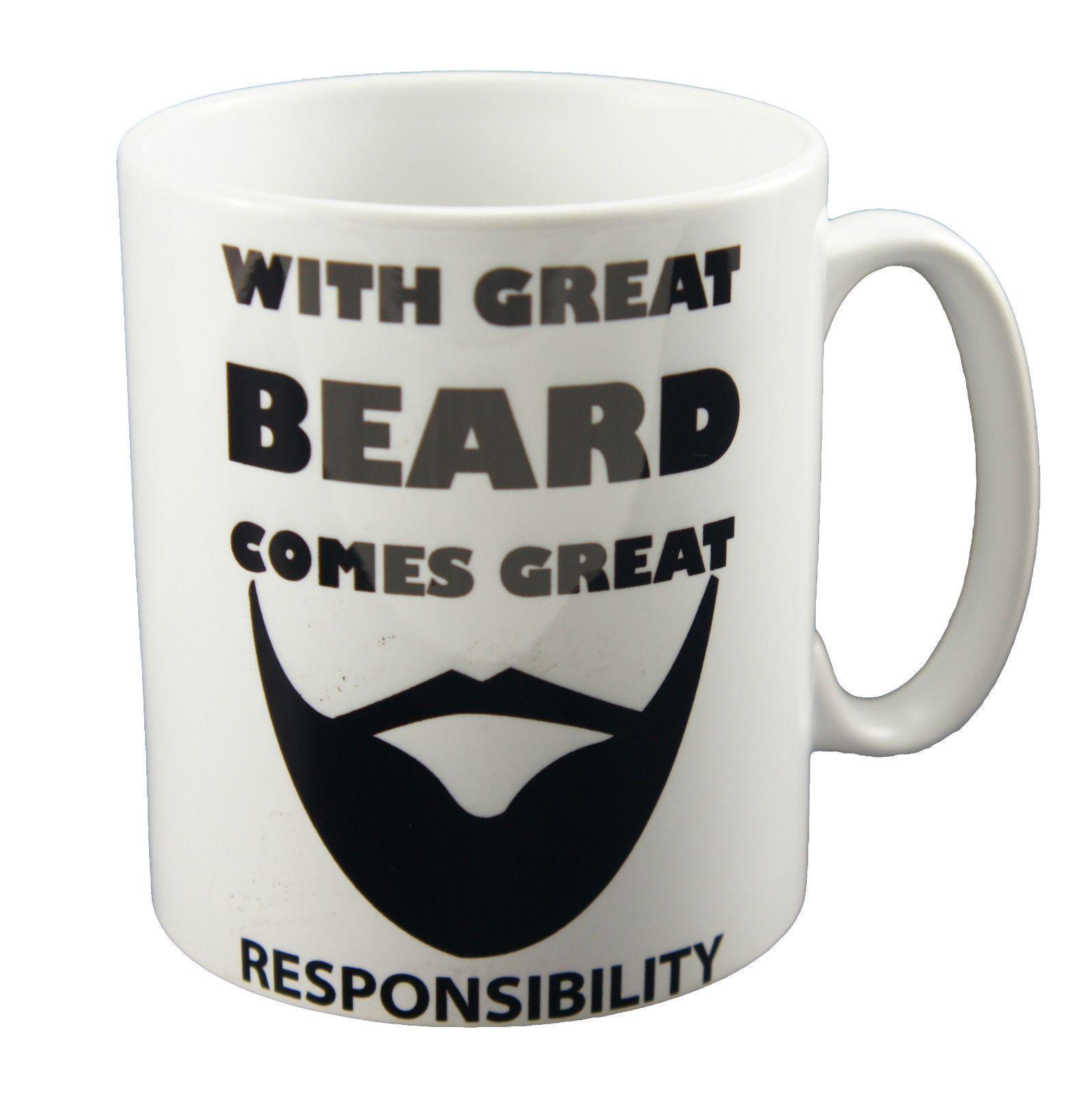 Great Beard Funny Design Novelty Gift Tea Coffee Office Ceramic Mug Beard Gang