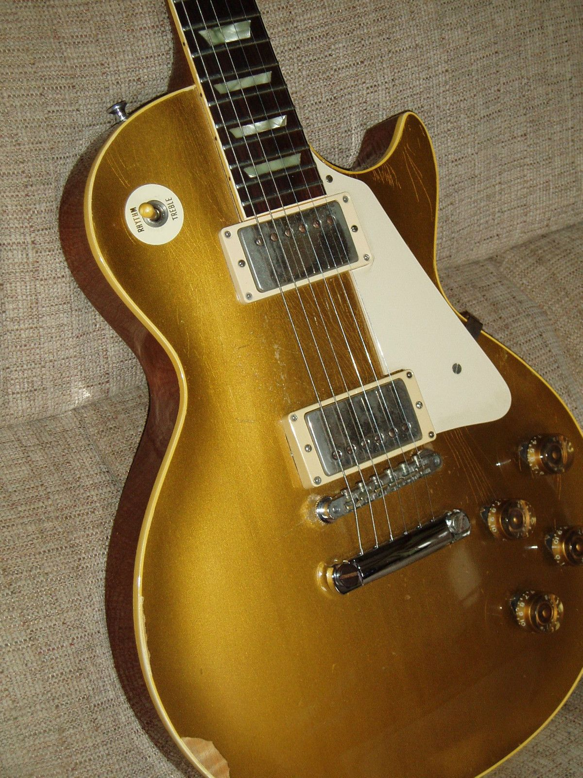 52 Conversion 58 Gibson Les Paul Gold Top Stop Tail Paf Vintage 1958 Wiring Diagram Unique Guitars