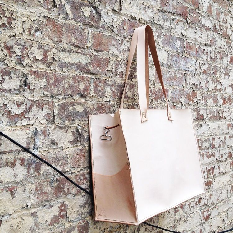 the brooklyn market leather tote $300