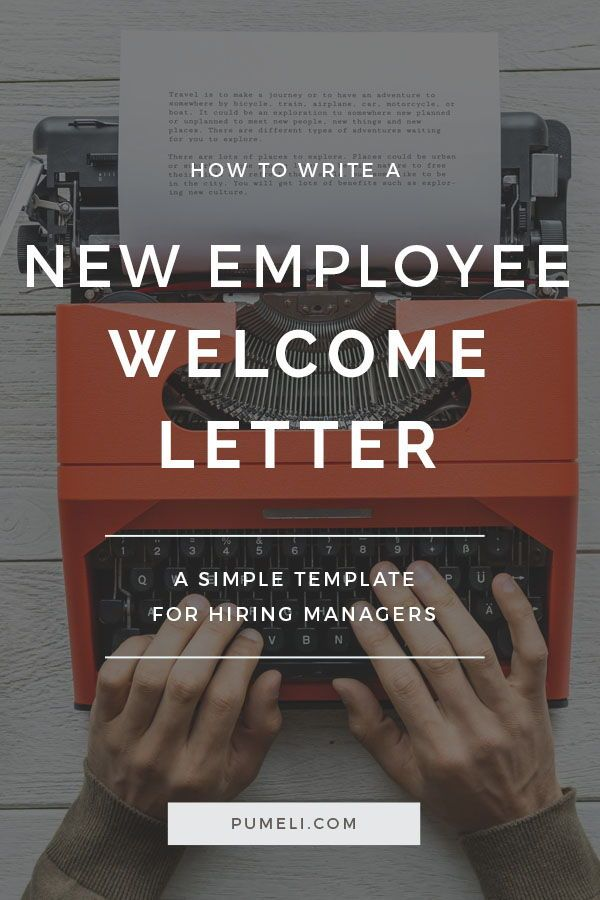 How To Write A Welcome Letter To New Employee Pinterest Employee - welcoming messages for new employees